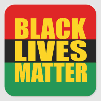 """BLACK LIVES MATTER"" SQUARE STICKER"