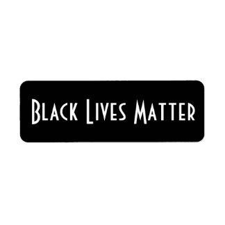 Black Lives Matter stickers Return Address Label