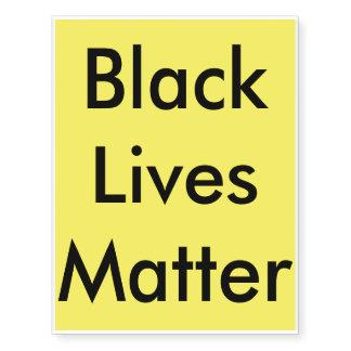 Black Lives Matter Temporary Tattoos