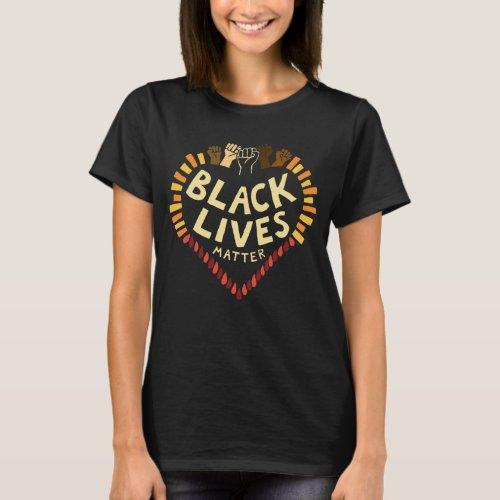 Black Lives Matter  Womens T_Shirt