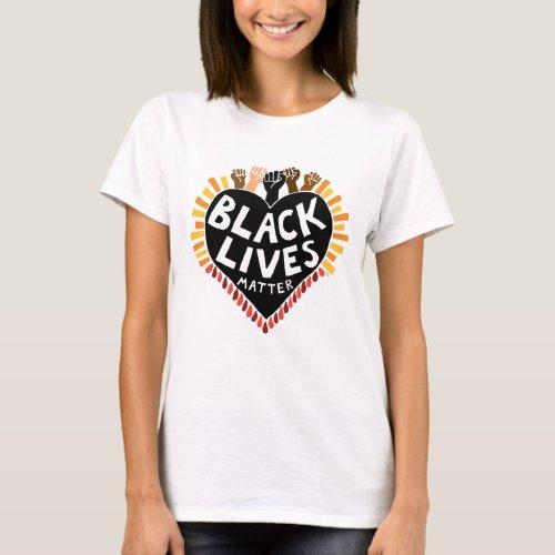 Black Lives Matter Womens T_Shirt light