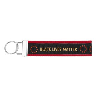 Black Lives Matter Wrist Keychain
