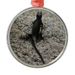 Black Lizard Metal Ornament
