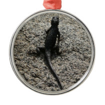Black Lizard Metal Ornament