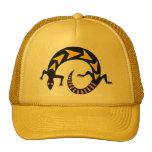 black lizzard cap mesh hat
