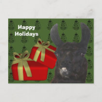 Black Llama Farm Animal Christmas Holiday