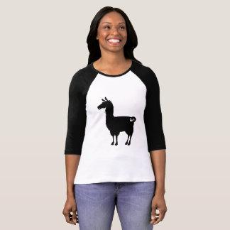 Black Llama Ladies 3/4 T-Shirt