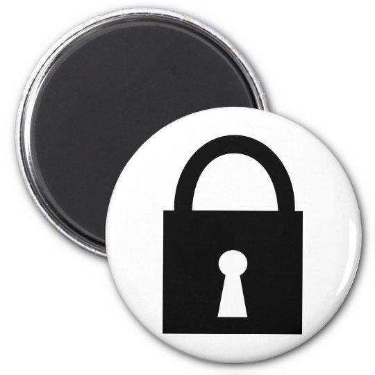 black lock icon magnet