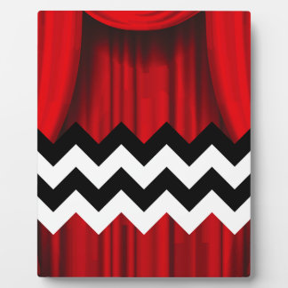 black lodge chevron plaque