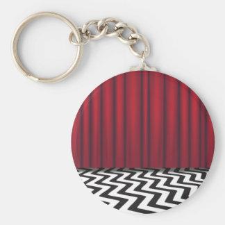 Black Lodge Red Room Basic Round Button Keychain