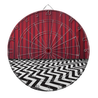 Black Lodge Red Room Dart Board