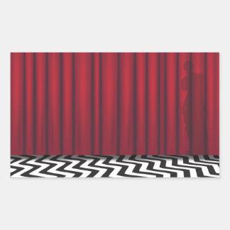 Black Lodge Red Room Rectangular Sticker