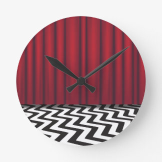 Black Lodge Red Room Round Clock