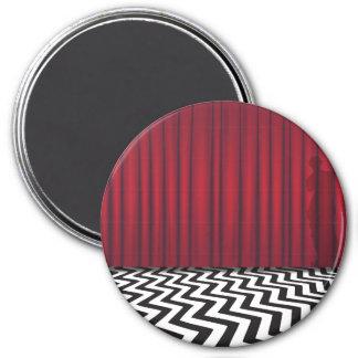Black Lodge Red Room Round Magnet
