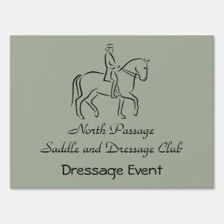 Black logo dressage show sign