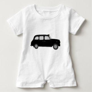 Black London Taxi Baby Romper