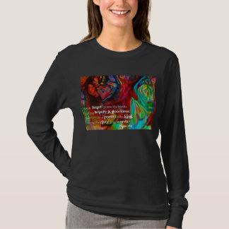 Black Long Sleeve Tshirt with Psalm 45:1 Art Heart