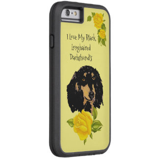Black longhaired Dachshund and Yellow Roses Tough Xtreme iPhone 6 Case
