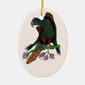 black lory parrot, tony fernandes ceramic ornament