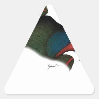 black lory parrot, tony fernandes triangle sticker