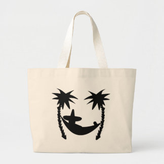 black lounger icon large tote bag
