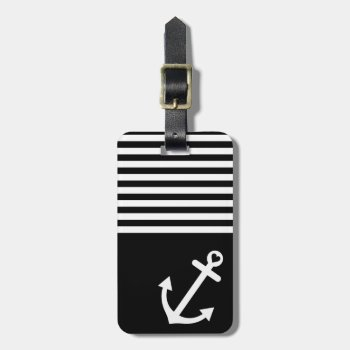 Black Love Anchor Nautical Bag Tag by OrganicSaturation at Zazzle