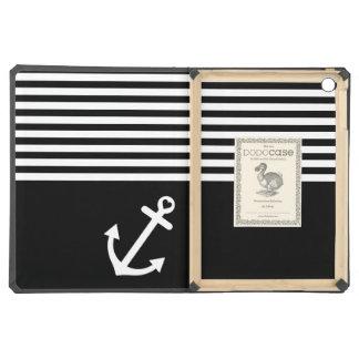 Black Love Anchor Nautical Cover For iPad Air