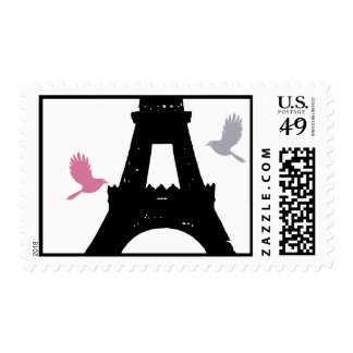 Black Love Birds Stamp