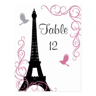 Black Love Birds Table Number