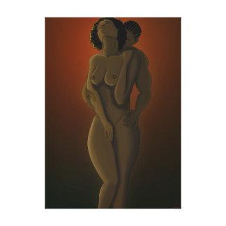 Black Love Canvas Print