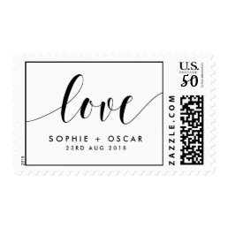 Black Love Emily Calligraphy Script Wedding Stamp
