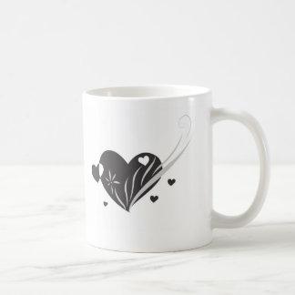 Black Love Heart Mug