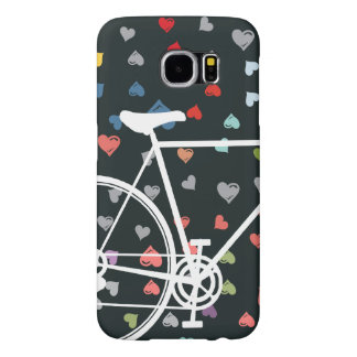 Black Love hearts Abstract Bicycle Samsung Galaxy S6 Case