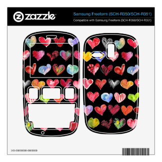 Black Love Hearts on All Samsung Phone Skins Samsung Freeform Decal