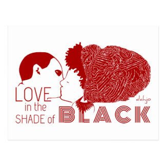 BLACK LOVE in RED Postcard