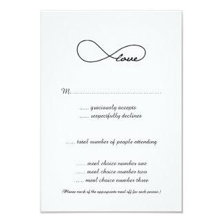 Black Love Infinity Wedding RSVP Cards