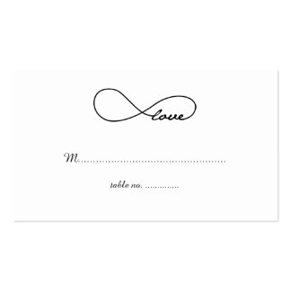 Black Love Infinity Wedding Table Place Cards