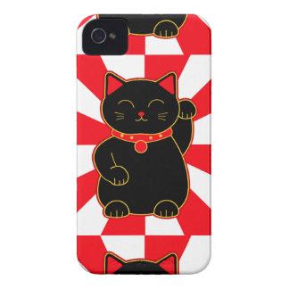 Black Lucky Cat Case-Mate iPhone 4 Case
