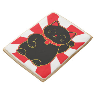 Black Lucky Cat Jumbo Cookie