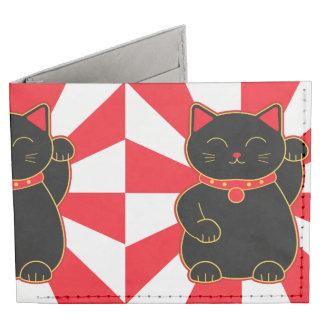 Black Lucky Cat Tyvek Wallet