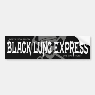 BLACK LUNG EXPRESS BUMPER STICKER