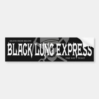 BLACK LUNG EXPRESS BUMPER STICKER