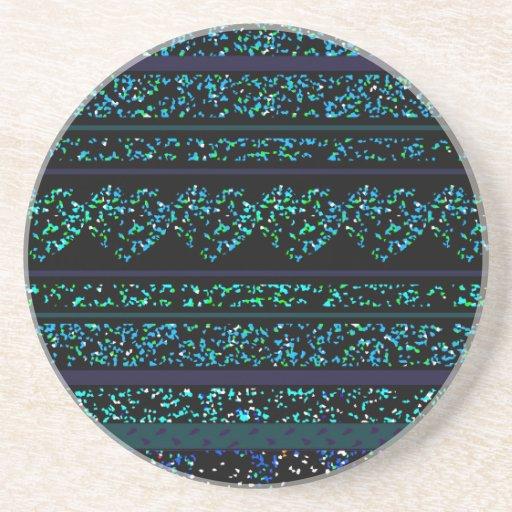 Black Luxury Blue Coaster