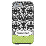 Black Macki Damask Moroccan Personalized iPhone 6  iPhone 6 Case