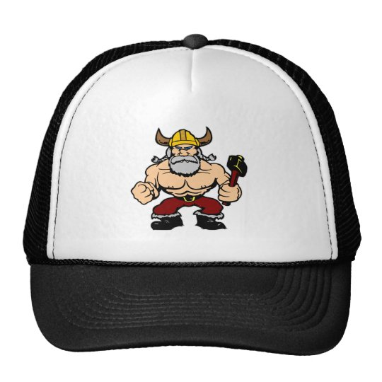 Black Mad Viking Trucker Hat