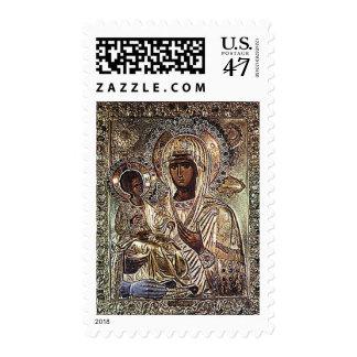Black Madonna of Serbia Eastern Europe Postage Stamp