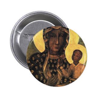 Black Madonna Poland Our Lady of Czestochowa print Button