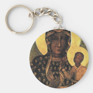 Black Madonna Poland Our Lady of Czestochowa print Keychain 26c1177a0