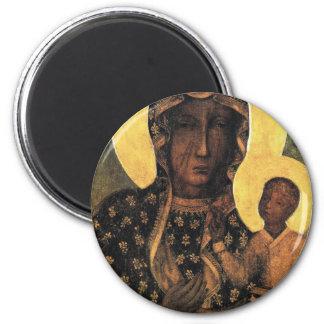 Black Madonna Poland Our Lady of Czestochowa print Magnet