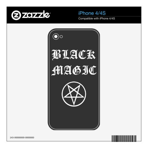 Black Magic Case for iPhone 4/4S Skin For The iPhone 4